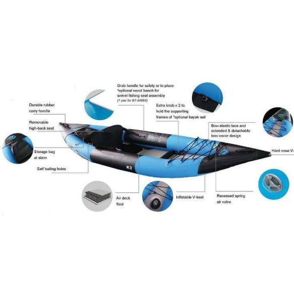 K2 Profeszionális kajak 1 szem. Aqua Marina