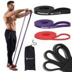 Fitness erősítő gumiszalag Springos 3 x 210 cm