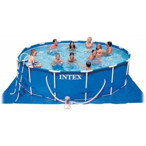 Intex vízforgatós medence 457x122cm Komplett szett. Metal Frame