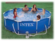 INTEX medence 305x76cm , Metal Frame 28200