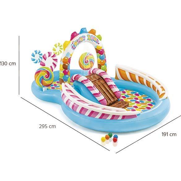 """Candy Zone Play Center  Felfújható vízi játszótér """" cukorkából """""""