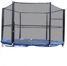 Trambulin biztonsági háló , védőháló + rudazat 245cm -es trambulinhoz 8'