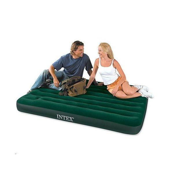Intex felfújható kétszemélyes ágy beépített pumpával 137x191x22cm  66928